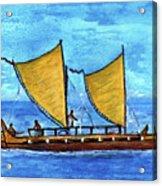 Hokulea Hawaiian Ocean Going Outrigger Canoe #49 Acrylic Print