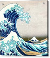 Hokusai Great Wave Off Kanagawa Acrylic Print by Katsushika Hokusai