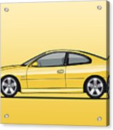 Holden Monaro Vz Cv8 Yellow Acrylic Print