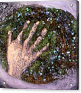 Holding Earth From The Series Our Book Of Common Faith Acrylic Print