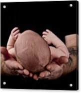 Holding My Son Acrylic Print