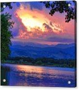 Hole In The Sky Sunset Acrylic Print