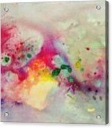 Holi-colorbubbles Abstract Acrylic Print