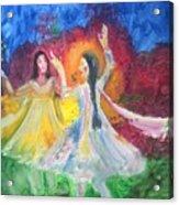 Holi-festival Of Colors Acrylic Print