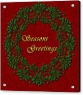 Holiday Card Acrylic Print
