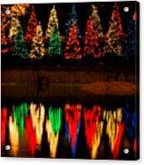 Holiday Evergreen Reflections Acrylic Print