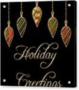 Holiday Greetings Merry Christmas Acrylic Print