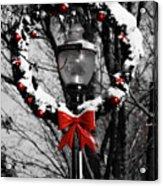 Holiday Lamp Post Acrylic Print