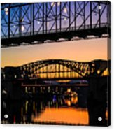 Holiday Lights Chattanooga #2 Acrylic Print