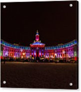 Holiday Lights Of The Denver City And County Building Acrylic Print