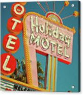 Holiday Motel, Las Vegas Acrylic Print