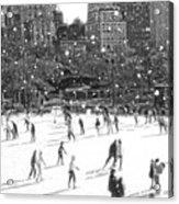 Holiday Skaters Acrylic Print