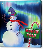 Holiday Top Hat Acrylic Print