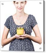 Holistic Naturopath Holding Jar Of Homemade Spread Acrylic Print