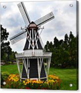 Holland Grey Windmill  Acrylic Print