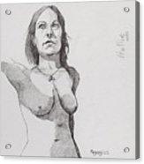Hollie In Pen Acrylic Print
