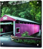 Hollingshead Coverd Bridge Acrylic Print