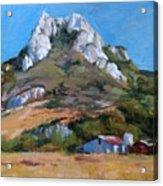 Hollister Peak Acrylic Print