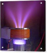 Hollow-anode Nitrogen Plasma Source Acrylic Print
