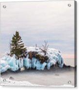 Hollow Rock Winter Acrylic Print