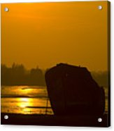 Holly Hill Wreck Sunset Acrylic Print
