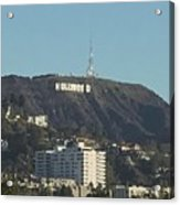 Hollyweed Sign Acrylic Print