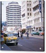 Hollywood And Vine California 1956 Acrylic Print