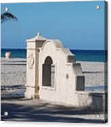 Hollywood Beach Wall In Color Acrylic Print