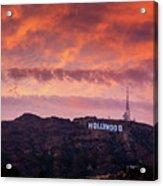 Hollywood Sign At Sunset Acrylic Print