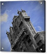 Hollywood Studio's Tower Of Terror Acrylic Print by AK Photography