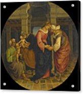 Holy Family With Saints John Elisabeth And Zacharias Acrylic Print