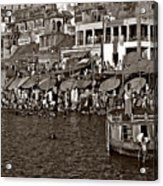 Holy Ganges Monochrome Acrylic Print