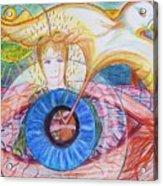 Holy Ghost Shining Eyes Acrylic Print by Richard  Hubal