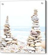 Holy Island Pebbles Acrylic Print