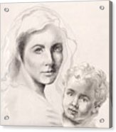 Holy Mary And Christ Child Acrylic Print