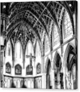 Holy Name Cathedral Chicago Bw 03 Acrylic Print