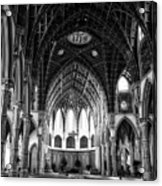 Holy Name Cathedral Chicago Bw 04 Acrylic Print