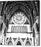 Holy Name Cathedral Chicago Bw 06 Acrylic Print