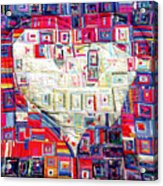 Holy Spirit Dove In Silk Acrylic Print
