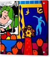Homage To Lichtenstein And Matisse Acrylic Print