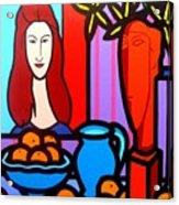 Homage To Modigliani II Acrylic Print
