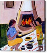 Home And Hearth In Taos Acrylic Print