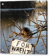 Home By Water For Wrent Cheep Acrylic Print