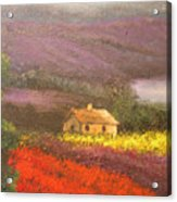 Home In The Hills Of Tuscany Acrylic Print