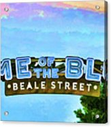 Home Of The Blues - Beale Street Acrylic Print
