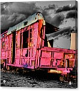 Home Pink Home Black And White Acrylic Print