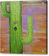 Home Sweet Cactus Acrylic Print