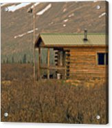 Home Sweet Fishing Home In Alaska Acrylic Print