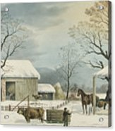 Home To Home To Thanksgiving, 1867 Acrylic Print