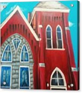 Home Town Church Acrylic Print